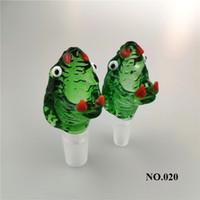 Serpente de vidro Bacia de 14 milímetros 18 milímetros masculino com punho colorido fumadores Bong Bowls peça para vidro da tubulação de água Bongs Dab Rigs rr