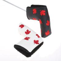 Канада флаг гольф-клюшка головной головной крышка клен листьев гольф крышка PU кожаный гольф лезвие головы