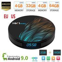 حديثا صندوق TV HK1 ماكس الذكية الروبوت 9.0 4GB 128GB 64GB 32GB ROCKCHIP 4K واي فاي نيتفليكس تعيين كبار مربع ميديا بلاير 2GB16GB الروبوت 9 BOX