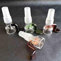 Schieberglasschalen Schneeflocke Filterschüssel mit Waben-Sieb-Griff 14mm 18mm männlich für Hülle Glasbongs Wasserleitungen