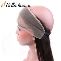 """Bellahair 360 Lace Band Frontal 22x2 """"Peruviano Virgin Capelli Chiusura del pizzo Dritto I capelli umani Frontale con i capelli del bambino Colore naturale"""