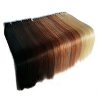 أفضل بائع غير مرئي لحمة البشرة الشريط في الشعر التمديد الأوروبي عذراء الشعر البشري 12 إلى 24 بوصة 100 جرام 40pieces كيد الشعر التبعي