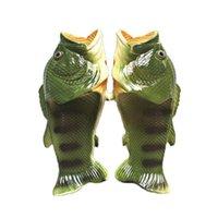Zapatillas de ducha de pescado creativo Zapatos de playa divertidos Sandalias Bling Flip Flops Verano Peces en forma de zapatos casuales 7 estilos 2pcs / par OOA3376