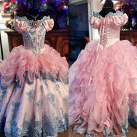 2020 Gorgeous Ball Gown Flower Girl Dresses Off Shoulder App...