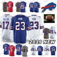 Buffalo Bills jerseys 17 Josh Allen 25 LeSean McCoy 95 Kyle Williams 23  Micah Hyde 49 Tremaine Edmunds 34 Thurman Thomas 12 Jim Kelly jersey 4963fc26d