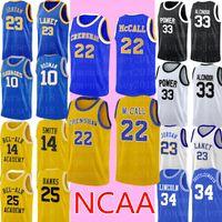 Love Basketball Film McCall 22 Film Jersey Günstige Magic Johnson College Basketball Jersey genäht Logos Kostenloser Versand