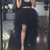 Sexy Dinner Women Tulle Tutu Skirt Maxi Irregular High Elast...
