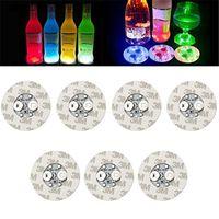 6cm LED-Flaschen Aufkleber Untersetzer Light 4LEDS 3M Aufkleber blinkende LED-Leuchten für Urlaub Party Bar Home Party Gebrauch