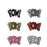 Novas 26,5 * 17cm letras Lantejoulas Remendo guarnição do laço Lantejoulas patches para T-shirt Decoração Costura Acessórios Crafts LP033