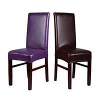 Chaise Housses Arrivée 1PC Noir / Café / Gris / Violet Multi Couleur Imperméable et oiseau PU Couverture en cuir pour la salle à manger à la maison Décor