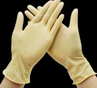Los guantes de látex desechables guantes de goma para lavar los alimentos Guante de goma universal Casa Jardín de protección 3 COLORES KKA7889