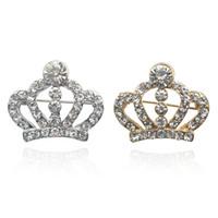 Costume bon marché Broche Crowstone Broche couronne en gros CZ Zircon Cristal Broche Pinches pour femmes Mariage Bijoux Cadeaux Ly1