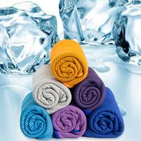 Quick-Dry Summer Sports Fitness execise Yoga Wiederverwendbare Ice Cold kühlen Handtuch Super-Kühl Handtuch Weiches Breathable Gesicht Abdeckung für Gesicht und Hals