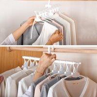 Многофункциональный гардероб волшебный вешалка складная одежда для хранения вешалки для хранения бытовой многослойной 360 градусов ротация сушильные стойки DH1029 T03