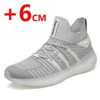 Shoes Men Casual Breathable knit Height Increasing 6 CM Snea...