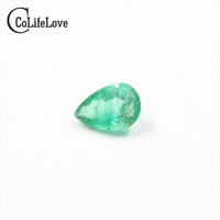 100% natural SI grade emerald loose stone 4 mm * 6 mm pear c...