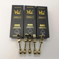 Западное побережье Вылечить ручку Vape Carts Gold Stortch Ceramic Тележки для детской коробки толщиной масло Pyrex Бак E CIG Vaping Pen Curepen Vaporizer Тележки