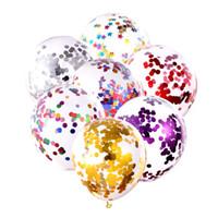 12inch Блестки Заполнены Латексный Шар Мода Многоцветный Воздушный Шар Прозрачные Воздушные Шары Новизна Малыш Игрушки День Рождения Свадебные Украшения DBC VT1706
