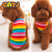 New Rainbow Pet Vest Dog shirt Babe Magnet Cotton Jersey Ves...