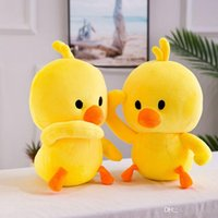 2019 New hot sell little yellow duck plush toys Child pillow Stuffed Animals dolls Child gift wholesale