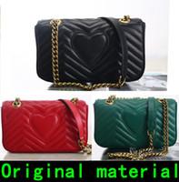 유명한 빈티지 어깨 가방 26CM22CM 고전 숙녀 패션 가방 고품질의 크로스 바디 백 원래 가죽 핸드백 워드 라인 배낭 동향