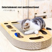 Juguetes combinados para gatos Scratch Tablero Funny Cats Toy Balls Toys For Cat Rasgleing Post Post Pet Intelligence Desarrollar Play