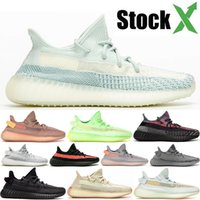 New Yecheil White Cloud Citrin Kanye West Mens Sport Black Pirate statique Clay Femmes Designer Chaussures de course taille Sneaker EUR 36-48 US12.5