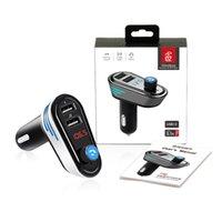 Car AP02 Bluetooth Kit mains libres Transmetteur FM sans fil A2DP Lecteur MP3 U disque double support USB 5V 3.1A Chargeur voiture