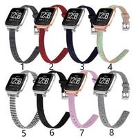Смотреть Band Для Fitbit Versa нейлоновой ткани браслет Смарт часы ремешок для Fitbit Versa облегченный Cowboy Спорт Фитнес браслет ремешок