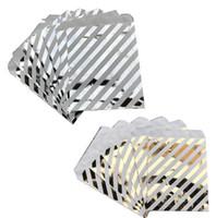 Sacchetto biscotto caramelle Lamina d'argento oro di carta Bomboniera Bomboniere Sacchetti Metallico Colorato Confezione regalo Compleanno di compleanno Baby Shower Party Decor 5x7INCH