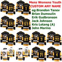 Pittsburgh Penguins Jerseys Womens Brandon Tanev Jersey Brian Dumoulin Erik Gudbranson Jack Johnson Letang Hockey Jerseys Custom Stitched