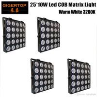 4pcs Ausrüstung warme Phase weiß 3200k Beleuchtung 25x10w Panel Blinder LED Matrix cob RGB-LED-dmx 5x5 RGB-Matrix Licht LED-Pixel