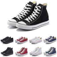 Canvas shoes Nueva moda hombre mujer zapatos casuales negro blanco rojo beige rosa azul marino azul alta baja alta calidad diseñador atlético tamaño 36-44