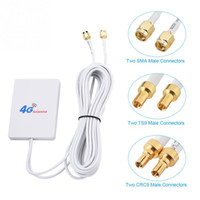 Внешний WIFI TS9 SMA CRC9 кабель Усилитель сигнала 28DBI 4G 3G LTE антенны Сетевой разъем Мобильный маршрутизатор Антенна Double Broadband