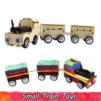 Experimento madera Ciencia Pequeño tren Juguetes de bricolaje montaje de kits modelo juguetes educativos para los adolescentes de los niños a mejorar la capacidad del cerebro regalos creativos