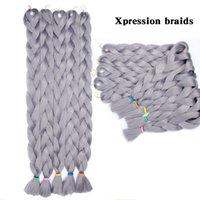 Ombre Xpression плетение волос 165g 41inch Long Ombre Blonde Color синтетическое Вязание крючком расширение Кос 100% канекалон