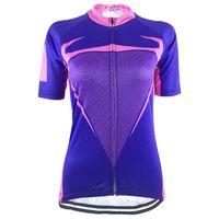 Гоночные куртки Хирбгод 2021 Фиолетовый розовый цикл езды на велосипеде Джерси Женщины дышащий с коротким рукавом велосипедная рубашка Летняя МТБ Дорожная одежда, HK040