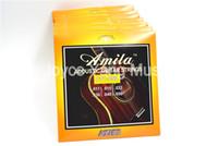 10 مجموعات من أميلا AT100 ضوء الغيتار الصوتية سلاسل الفولاذ المقاوم للSteelPhosphor برونزية سلاسل 1-6TH 011-050 في. بالجملة