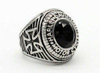 homens e mulheres europeias e americanas de moda anel colorfast aço inoxidável cor ouro / prata opcional Harley Motorcycle mão anel da jóia