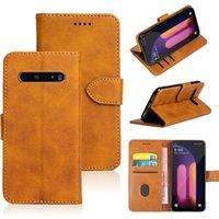 Cobertura TPU Black Soft Silicone para LG G8X G8S V50 Thinq K40 Q60 W10 30 Couro Flip Wallet Phone Case
