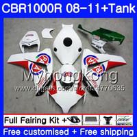 Bodys +Tank For HONDA CBR 1000RR CBR 1000 RR 2008 2009 2010 2011 277HM.57 CBR1000 RR 08 10 11 CBR1000RR 08 09 10 11 PATA White hot Fairing