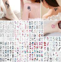 Tatouages Temporaires Autocollant Fleur Animail Tatouage Instantané Body Art Bras Imperméable Faux Papier Tatoo Gros Mix Patterns
