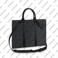 M45265 SAC PLAT HORIZ CARTELLA Uomini Eclipse tela lettera borsa di stampa della pelle bovina valigetta valigetta portafoglio Tote Shoulder Bag