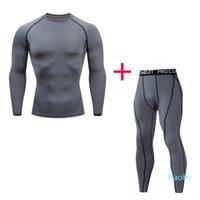 도매 - 새로운 실행 남자 바지 체육관 t 셔츠 기본 레이어 열 속옷 스포츠 정장 4XL 조깅 스포츠 남성의 압축 셔츠 스타킹