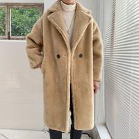 2colors Sonbahar Outwear Peluş Ceketler Erkekler Kış Polar Kürk Kabarık Coat ceketler Jumper Dış Giyim Büyük Boy Sıcak