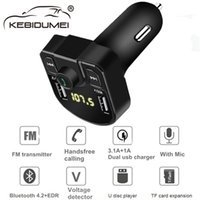 Bluetooth 4. 2 MP3 Player Handsfree Car Kit FM Transmitter su...