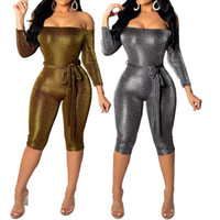 Sexy Sequins Rompers Women Jumpsuit Women Summer Playsuit Bo...