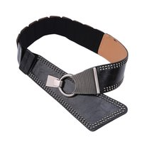 Punk Rocker Wide Belts For Women Elastic Wide European Style...