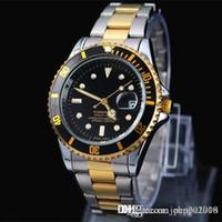 2019 классический дизайн мода мужчины большие часы золото серебро из нержавеющей стали высококачественные мужские кварцевые часы мужчина наручные часы бизнес классы часы