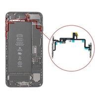 Getestete Arbeitsleistung Lautstärke Flex für IPhone 8 8 Plus Power Lautstärke Taste Stummschalter Blitzlicht Flexkabel Mit Metallhalterung 40St